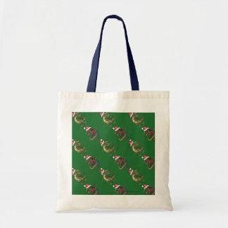 Modelo verde festivo de TRex de cabezas y de las Bolsa Tela Barata
