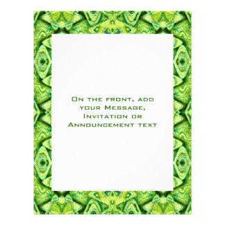 modelo verde tarjetas informativas