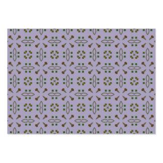 Modelo verde, marrón y púrpura tarjetas de visita grandes