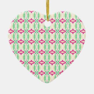 Modelo verde rosado de las cadenas de las rayas ornamento de reyes magos