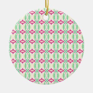 Modelo verde rosado de las cadenas de las rayas ornamentos de reyes magos