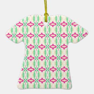 Modelo verde rosado de las cadenas de las rayas ornato