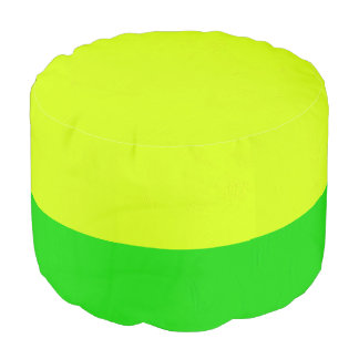 Modelo verde y amarillo del caramelo puf redondo