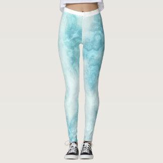 Modelo veteado azul claro leggings