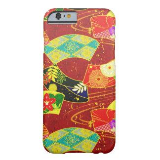 Modelo vibrante abstracto japonés oriental fresco funda de iPhone 6 barely there