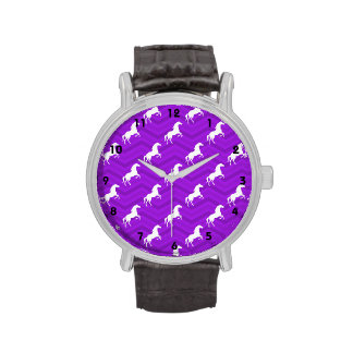 Modelo violeta de Chevron del caballo púrpura y Relojes De Mano
