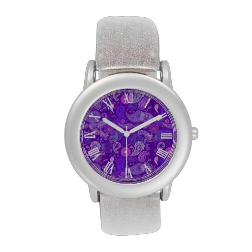 Modelo violeta de Paisley Reloj De Mano