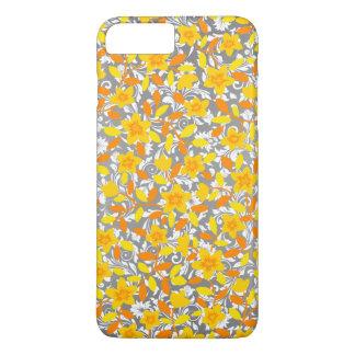 Modelos de flores lindos de blanco del amarillo funda iPhone 7 plus
