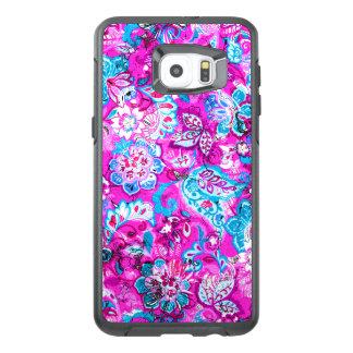 Modelos de flores rosados azules lindos funda OtterBox para samsung galaxy s6 edge plus