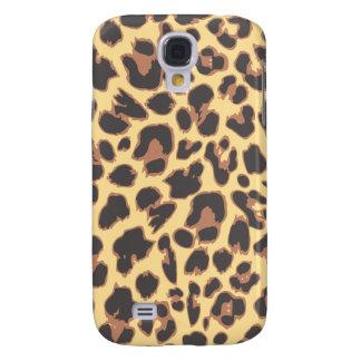 Modelos de la piel animal del estampado leopardo funda samsung s4