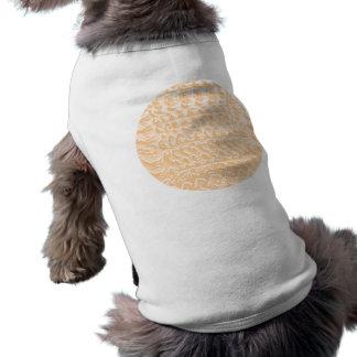Modelos de oro brillantes suaves - plantilla camiseta sin mangas para perro