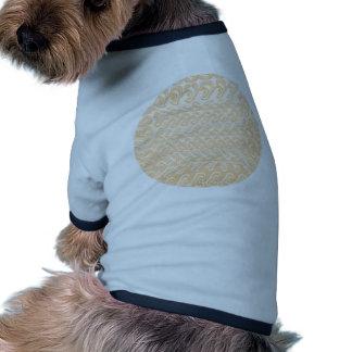 Modelos de oro brillantes suaves - plantilla camisa de perrito