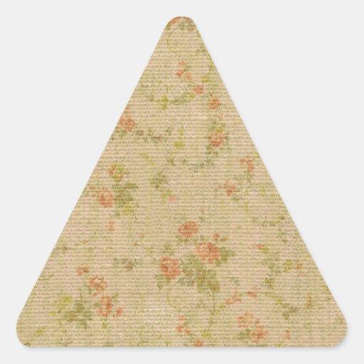 Modelos del vintage de la arpillera de la lona pegatina trianguladas personalizadas