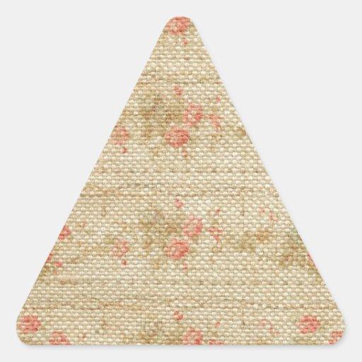 Modelos del vintage de la arpillera de la lona calcomanía triangulo