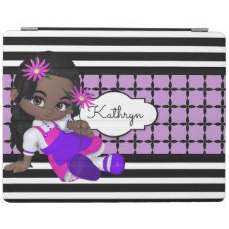 Modelos lindos del chica w/Modern de Lil Cubierta De iPad