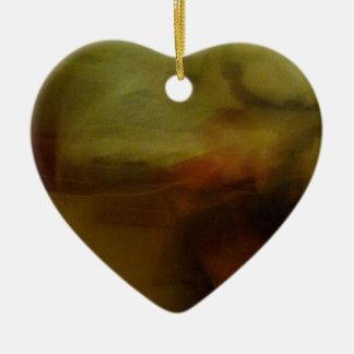 Modelos marrones de papelucho con Farbverlauf Adorno Navideño De Cerámica En Forma De Corazón