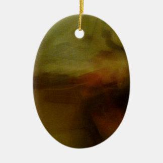 Modelos marrones de papelucho con Farbverlauf Adorno Navideño Ovalado De Cerámica