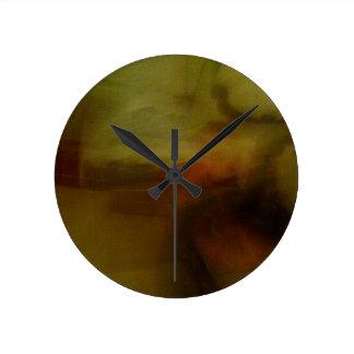 Modelos marrones de papelucho con Farbverlauf Reloj De Pared