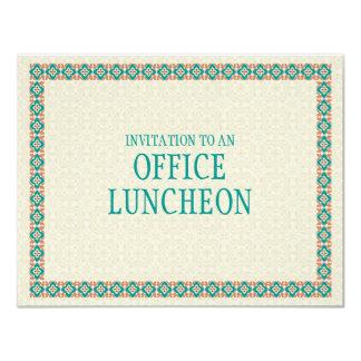 Modelos y invitación del almuerzo de la oficina de invitación 10,8 x 13,9 cm