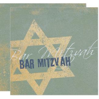 Modern Distressed - Bar Mitzvah Invitation Invitación 13,3 Cm X 13,3cm