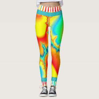 Moderno colorido del fractal psicodélico leggings