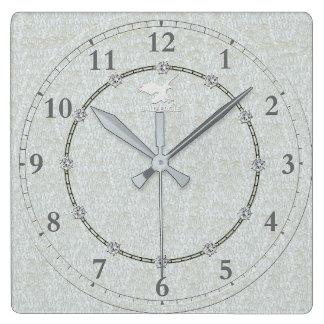 Moderno de plata real adornado 1 venta del reloj