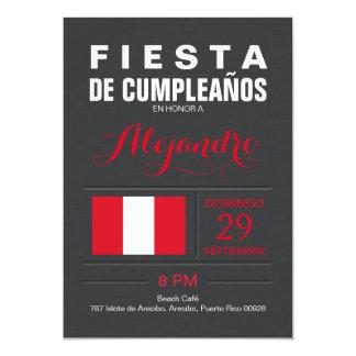 Moderno: Fiesta de Perú Invitación 12,7 X 17,8 Cm