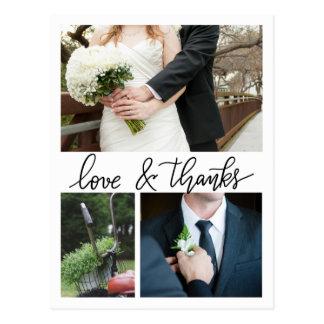Moderno gracias las tres fotos que se casan postal