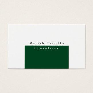 Moderno minimalista blanco elegante llano de tarjeta de visita