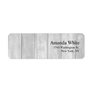 Moderno minimalista elegante llano de madera gris etiqueta de remite