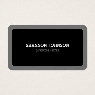 Moderno mínimo negro y gris redondeada tarjeta de visita