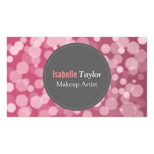 Moderno, moda, rubí, encanto, artista de maquillaj tarjetas personales