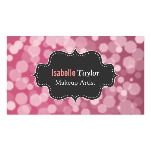 Moderno, moda, rubí, encanto, artista de maquillaj tarjeta de negocio