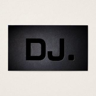 Moderno negro fresco del texto intrépido de DJ Tarjeta De Visita