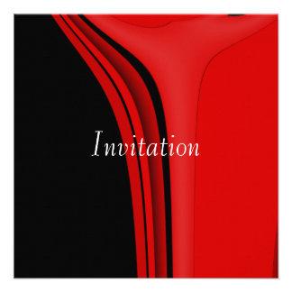 Moderno negro rojo del arte abstracto de la invita
