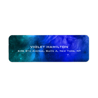 Moderno profesional azul simple llano elegante etiqueta de remitente