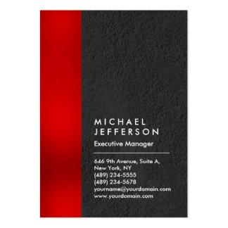 Moderno profesional gris de la raya roja única tarjetas de visita grandes