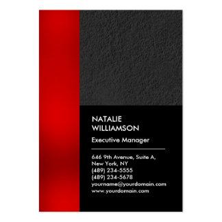 Moderno profesional gris del negro rojo único de tarjetas de visita grandes