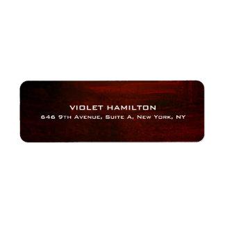 Moderno profesional rojo simple llano elegante de etiqueta de remite