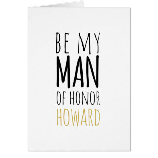 Moderno sea mi hombre de tarjeta de la petición