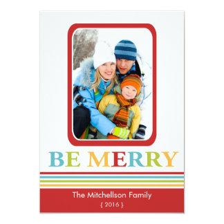 Moderno SEA tarjeta plana de las Felices Navidad Invitación 12,7 X 17,8 Cm