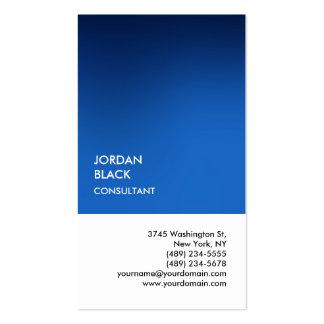Moderno único blanco azul especial exclusivo tarjetas de visita