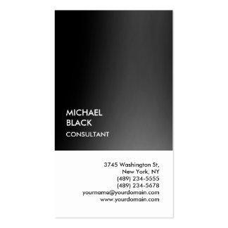 Moderno único blanco negro especial exclusivo tarjetas de visita