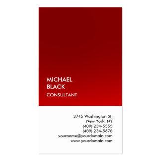 Moderno único blanco rojo especial exclusivo tarjetas de visita