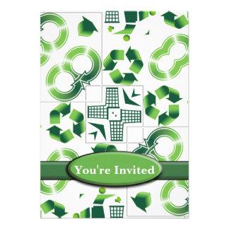 Moderno vaya verde y recicle el monograma del coll anuncios