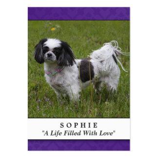 Modernos púrpuras de la tarjeta conmemorativa del tarjetas de visita grandes