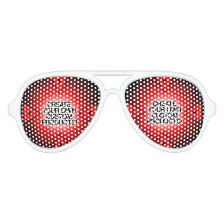 Modifique/personalice/cree sus los propios para gafas de fiesta de aviador