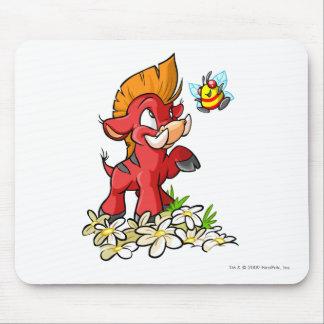 Moehog rojo y zumbido alfombrilla de ratón