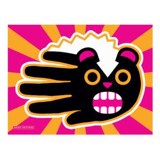 Mofeta enojada del punk del mascota postal