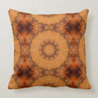 Moho-Mandala, colores de Rust_744_3 Cojín Decorativo
